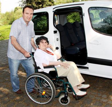 senior lady on a wheelchair
